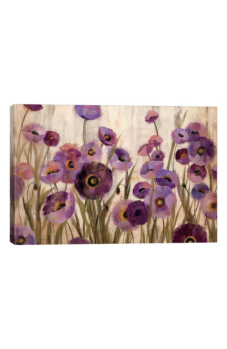 ICANVAS Pink & Purple Flowers by Silvia Vassileva Giclée Print Canvas Art, Main, color, GREEN
