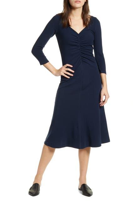 Image of Stateside Rib Ruched Flare Dress