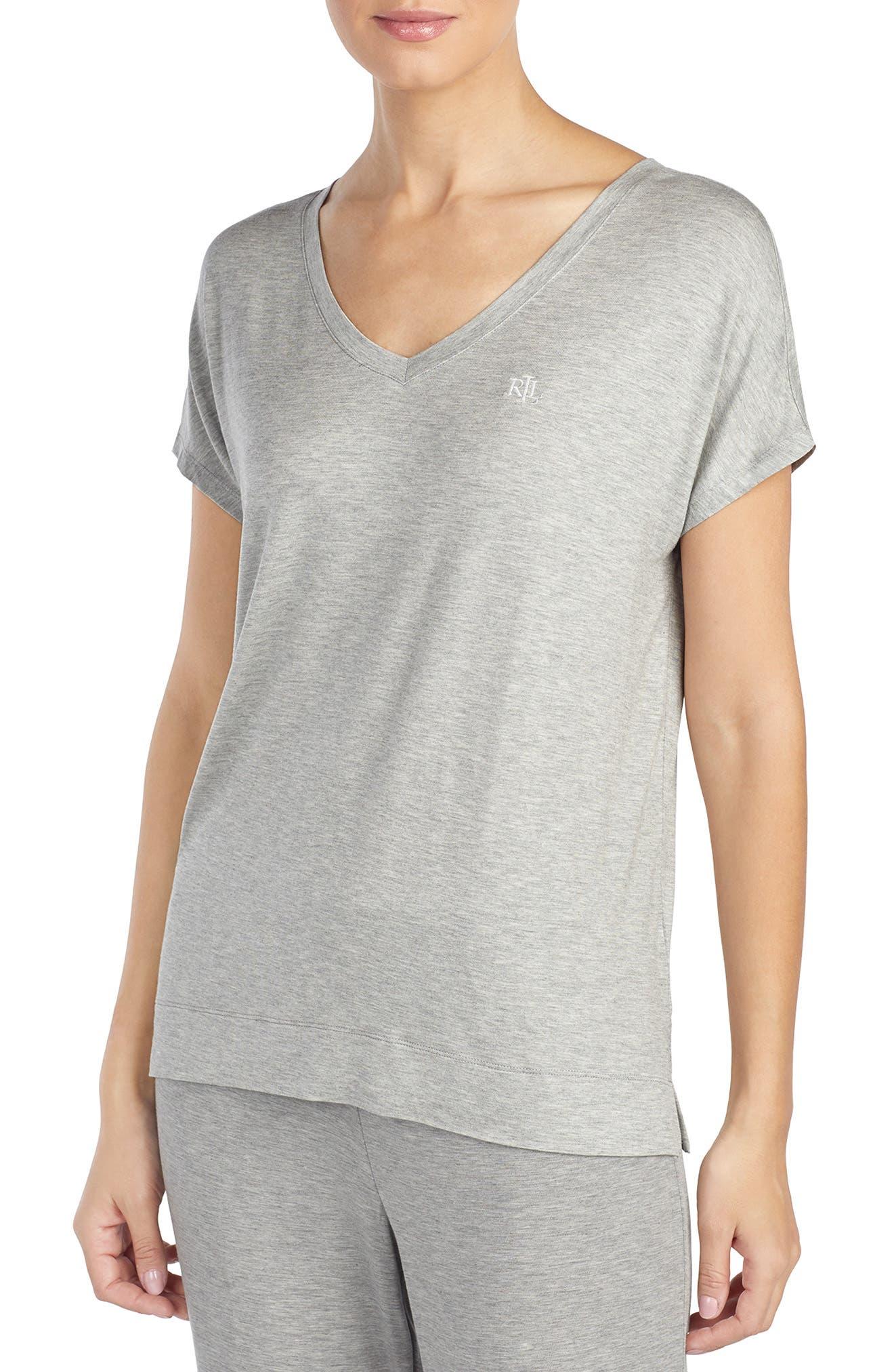 Lauren Ralph Lauren Pajama Tee, Grey