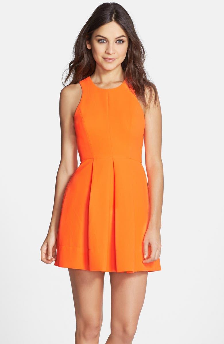 CLOVE Back Cutout Woven Fit & Flare Dress, Main, color, 805