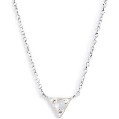 Anzie Dainty Cleo Moonstone Pendant Necklace