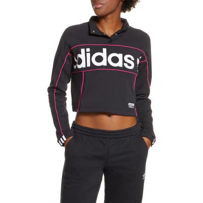 Adidas Originals Crop Pullover, Black