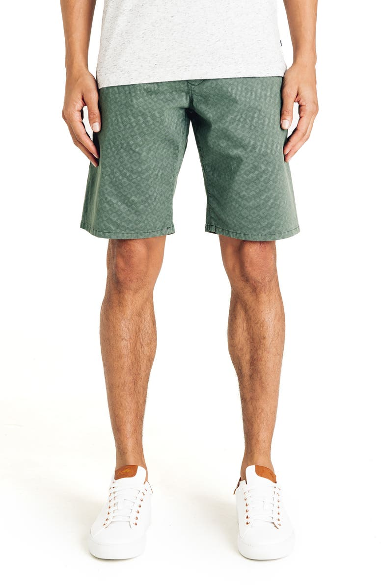 GOOD MAN BRAND Slim Fit Diamond Stripe Shorts, Main, color, RIFFLE GREEN