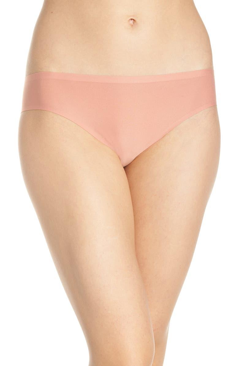 CHANTELLE LINGERIE Chantelle Intimates Soft Stretch Seamless Bikini, Main, color, FOUNDATION