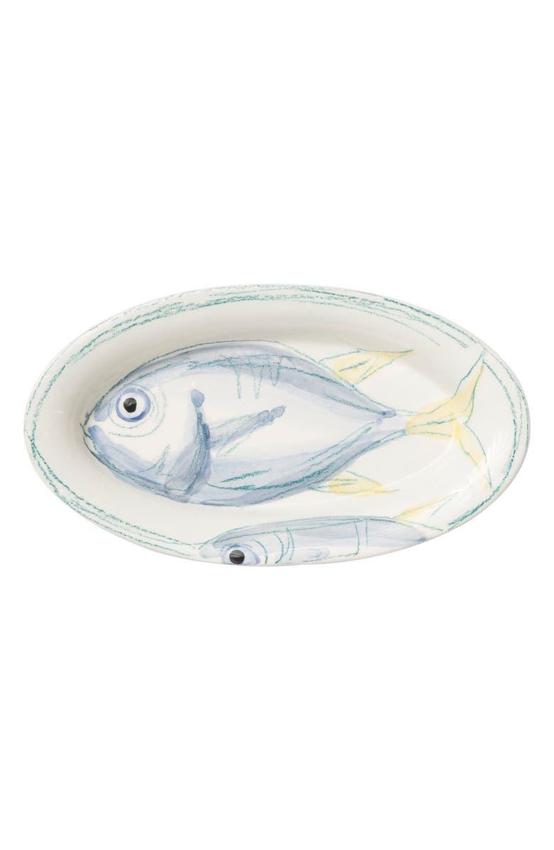 VIETRI Pescatore Small Oval Tray, Main, color, WHITE