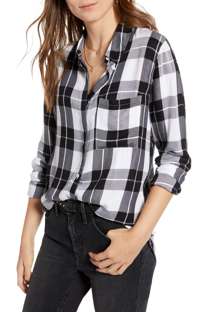 TREASURE & BOND Classic Plaid Shirt, Main, color, 001