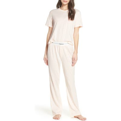 Chalmers Edith Cotton Jersey Pajamas, Pink
