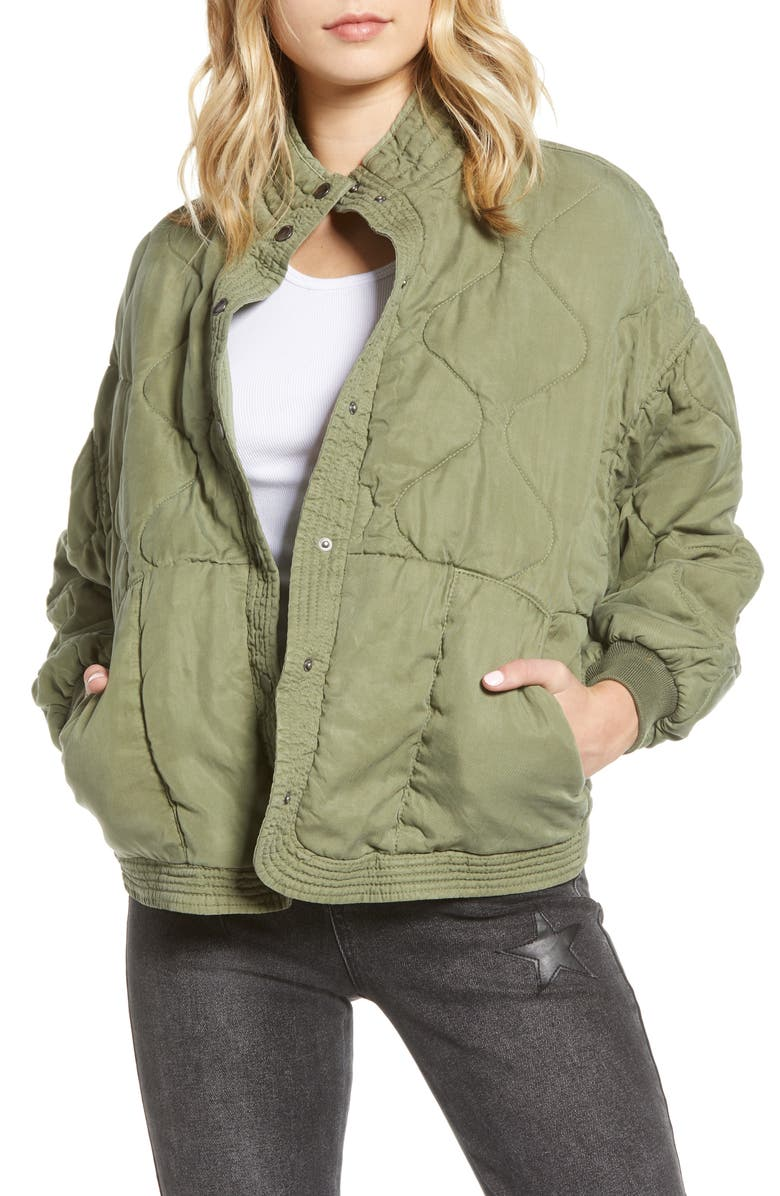 BLANKNYC Quilted Jacket, Main, color, 300