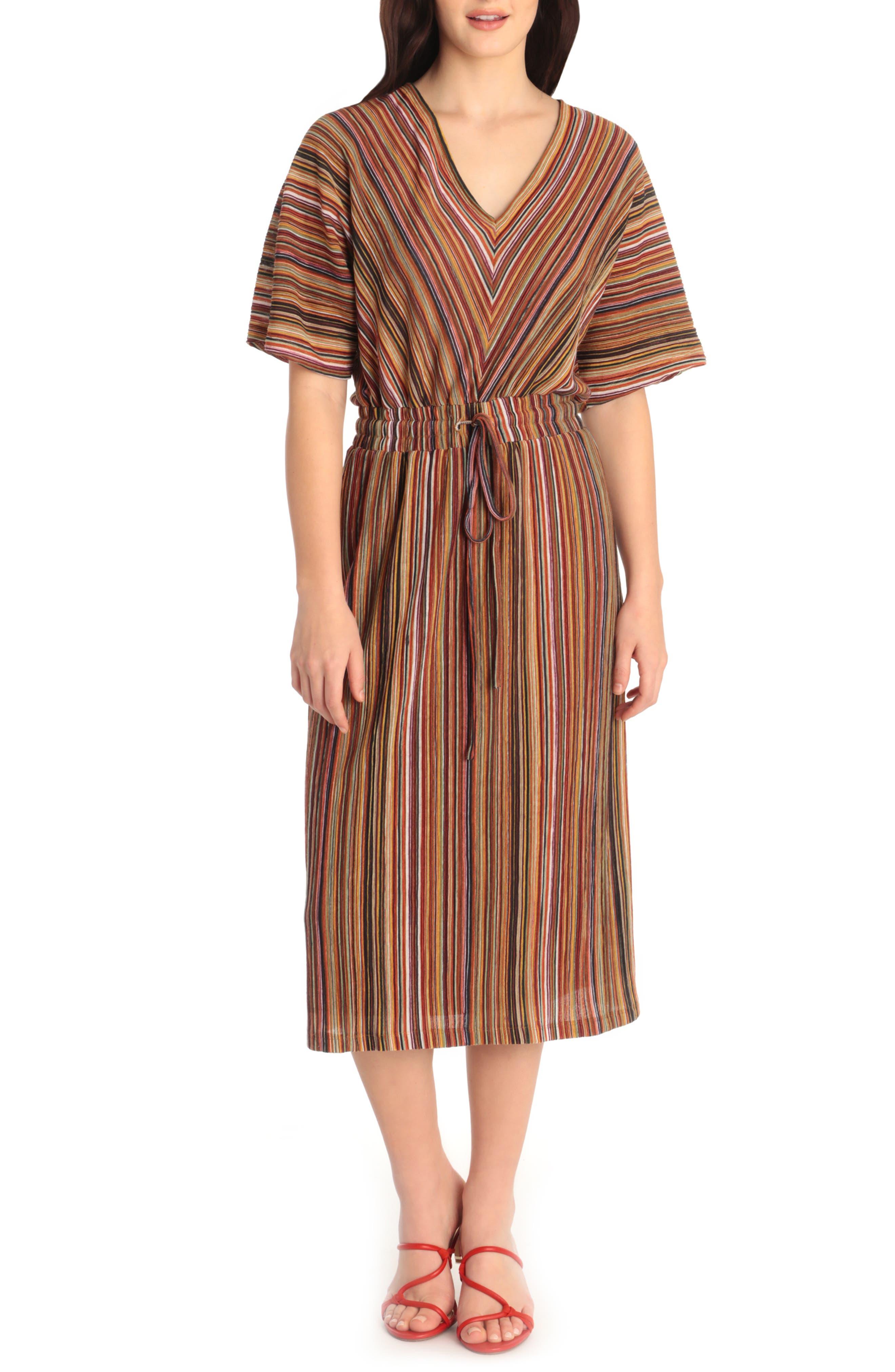 Multistripe Midi Dress