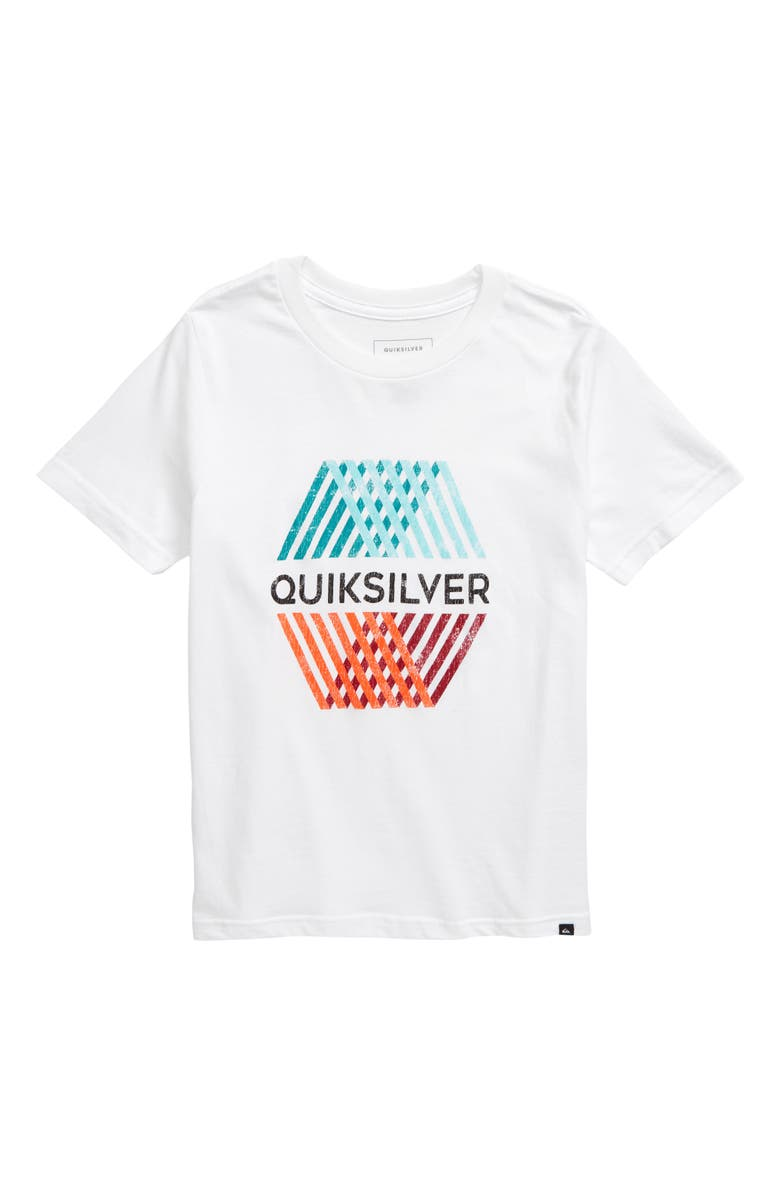 QUIKSILVER Multihex Graphic T-Shirt, Main, color, WHITE