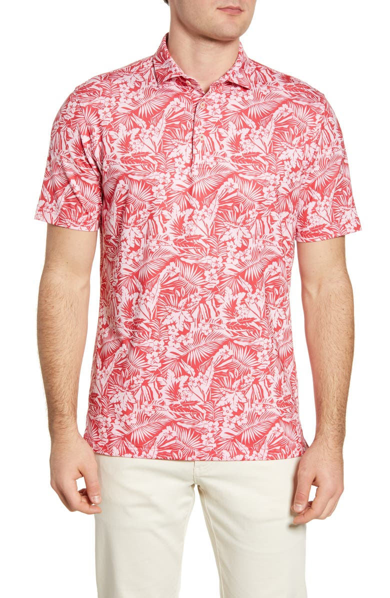 JOHNNIE-O Willis Floral Performance Polo, Main, color, 653
