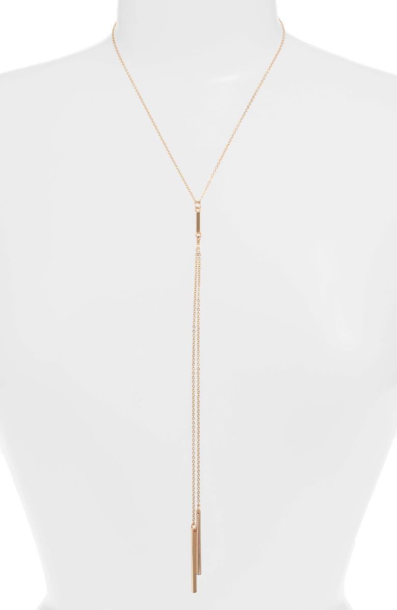 TEN79LA Y-Necklace, Main, color, GOLD
