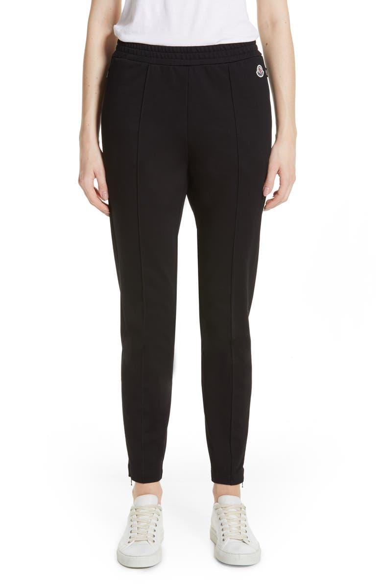 MONCLER Pintuck Cotton Pants, Main, color, 001