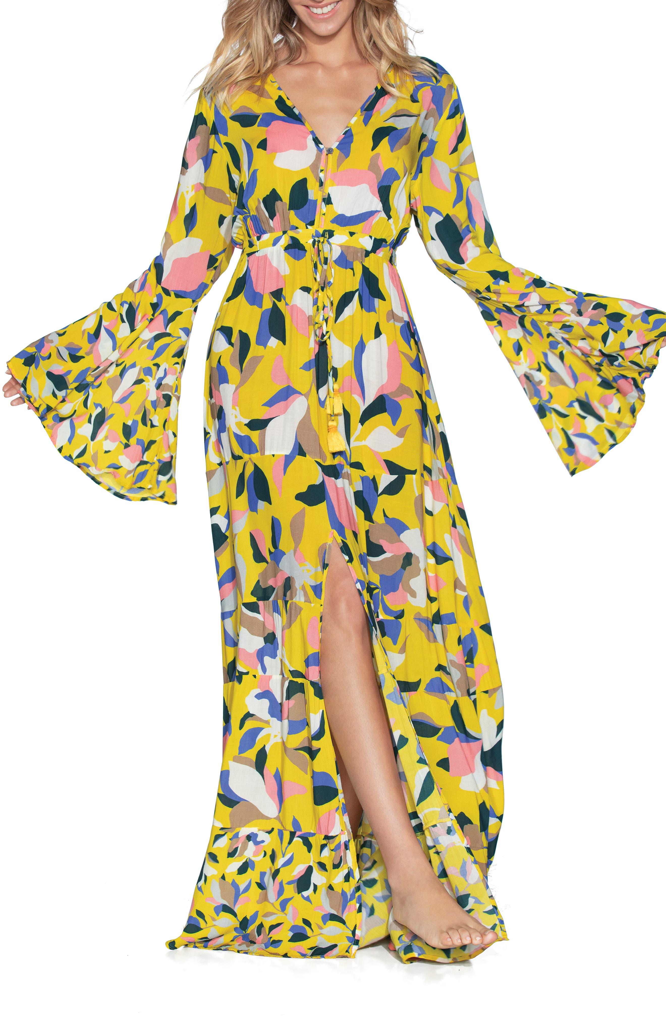 Maaji Yellow Anemone Cover-Up Maxi Dress