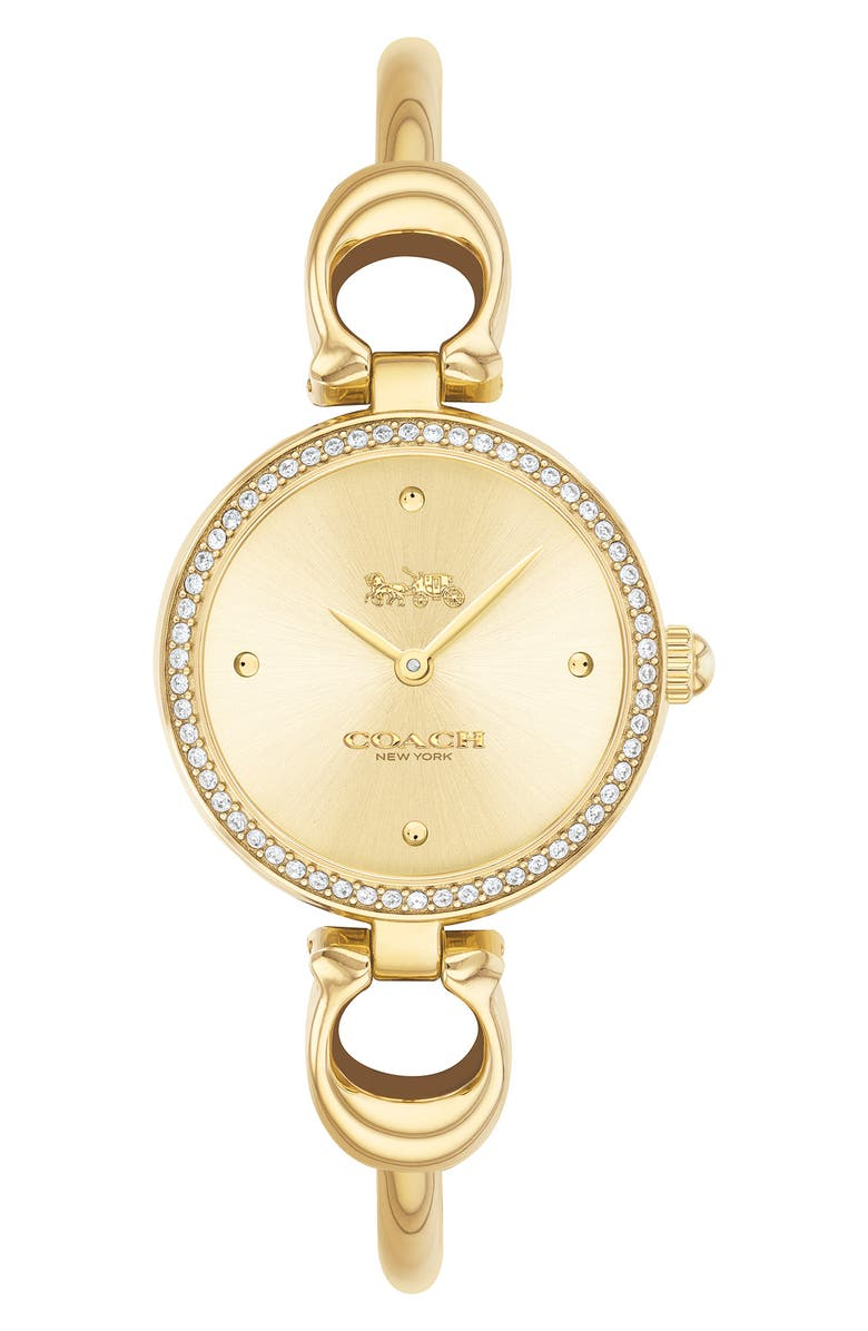 COACH Park Bangle Watch, 26mm, Main, color, GOLD/ SILVER