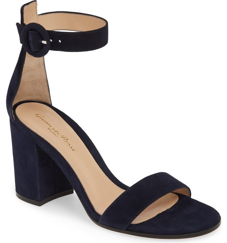 GIANVITO ROSSI Block Heel Sandal, Main, color, DENIM BLUE SUEDE