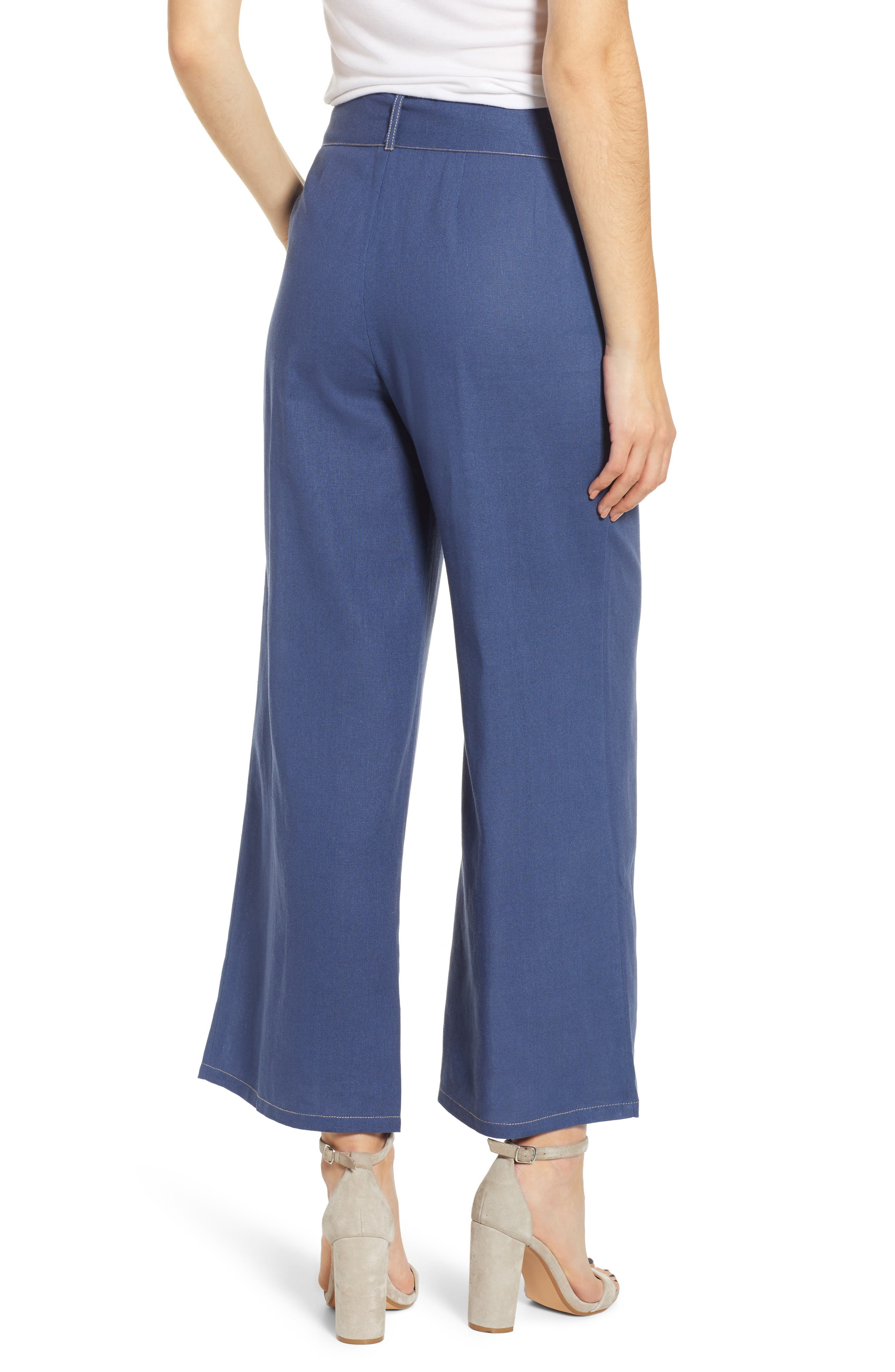 ,                             Belted Wide Leg Pants,                             Alternate thumbnail 2, color,                             400