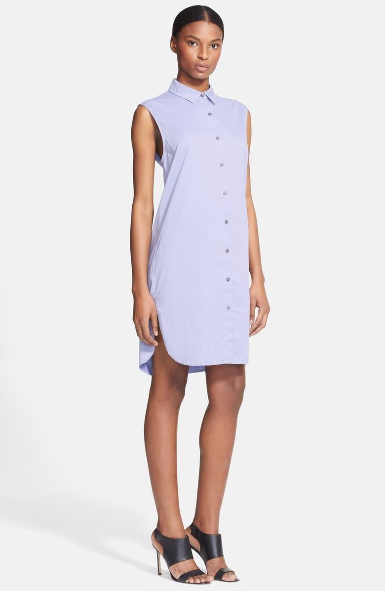 ALEXANDERWANG.T T by Alexander Wang Cotton Poplin Shirtdress, Main, color, 416