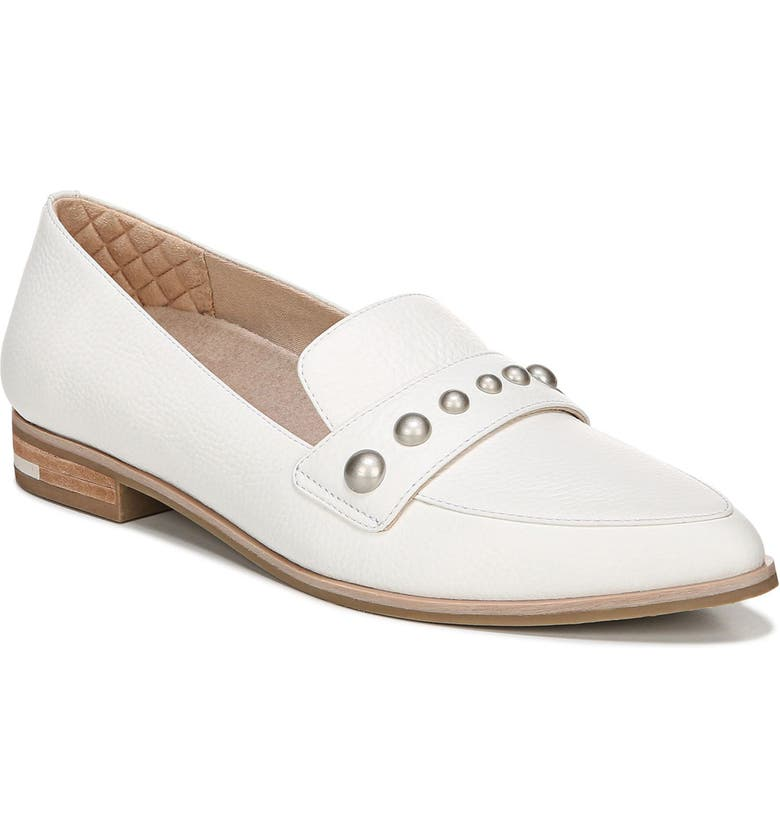 DR. SCHOLL'S Faxon Studded Loafer, Main, color, WHITE LEATHER