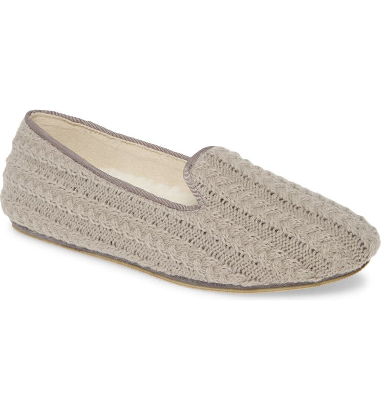 PATRICIA GREEN Deluxe Cable Knit Loafer, Main, color, GREY FABRIC