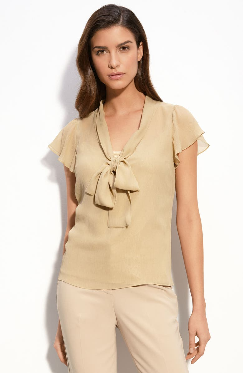 ST. JOHN COLLECTION Crinkled Georgette Blouse, Main, color, 250