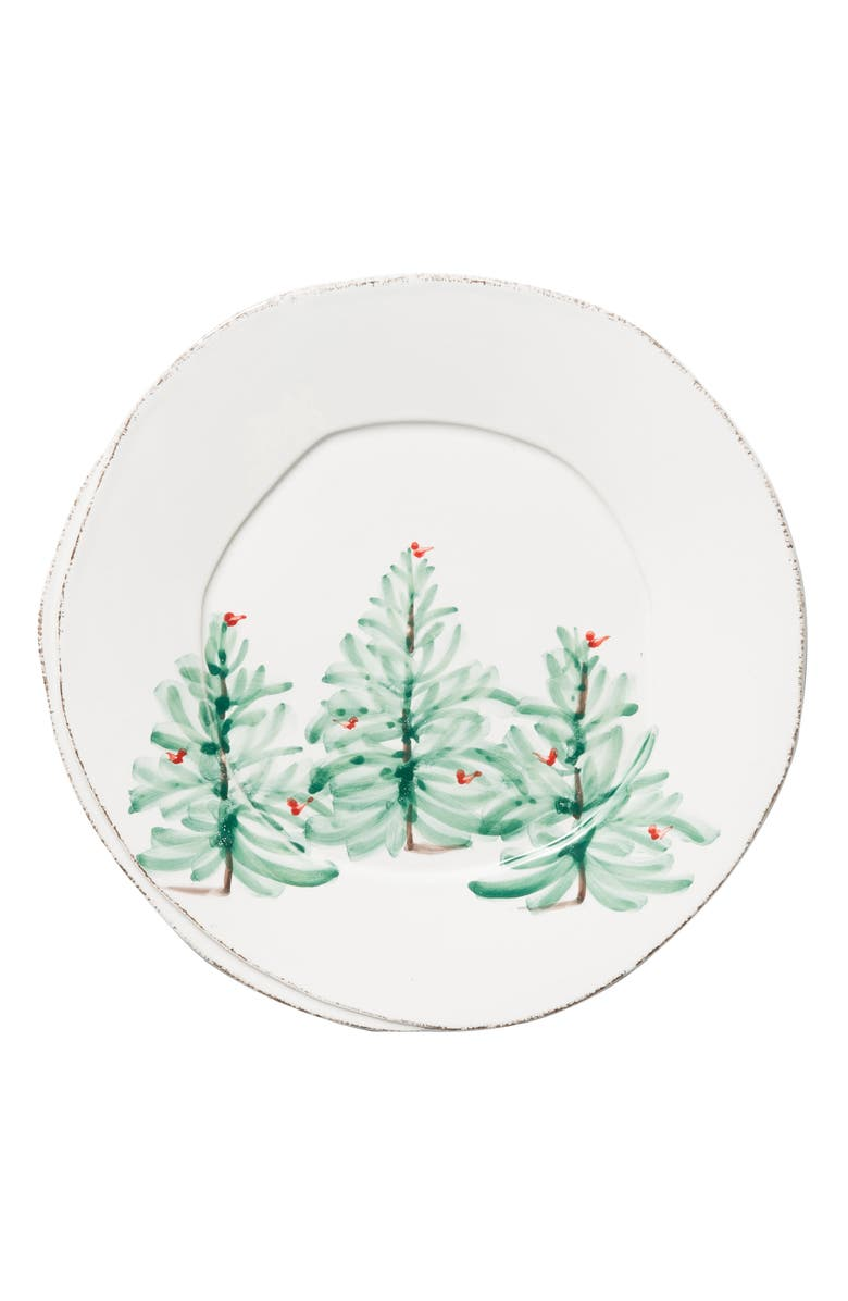 VIETRI Lastra Holiday European Dinner Plate, Main, color, HAND PAINTED