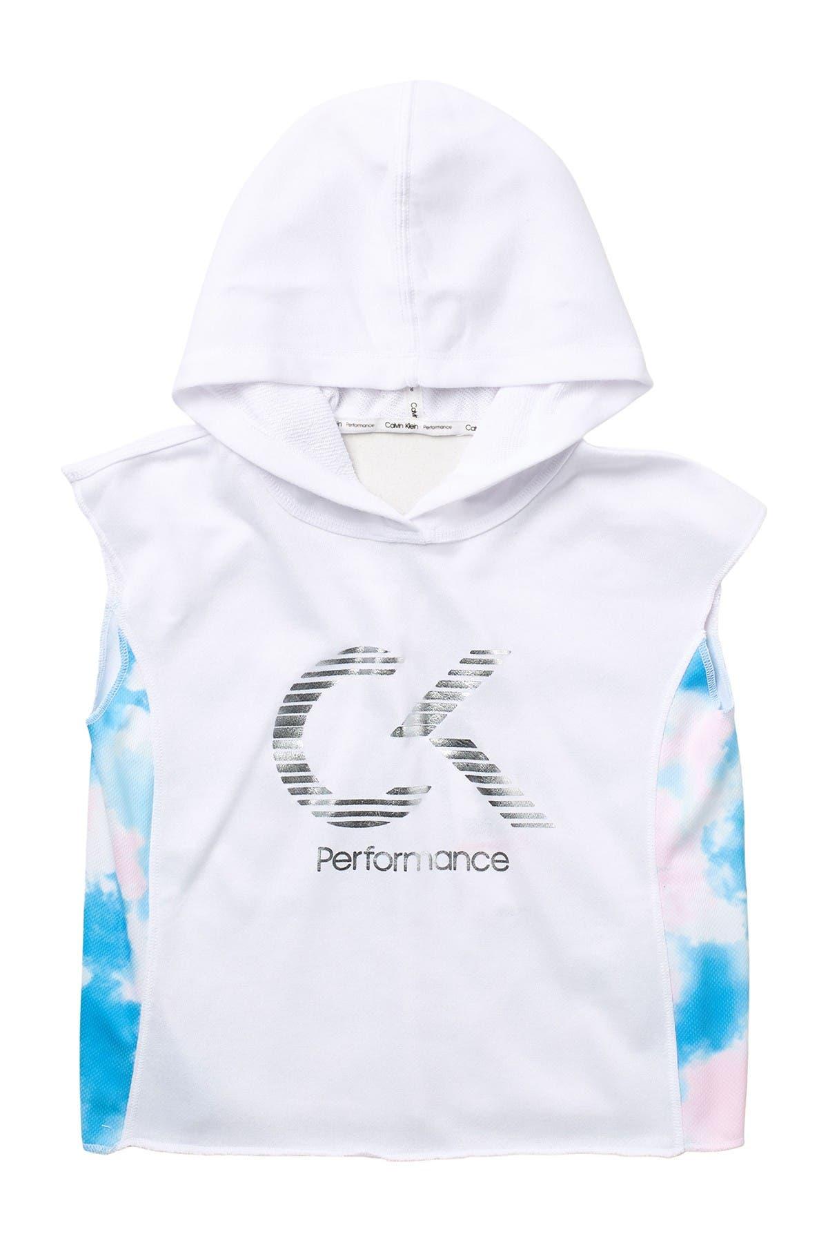 Image of Calvin Klein Sleevelesss Popover Hoodie
