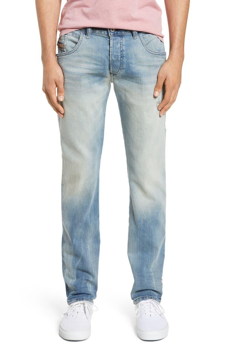 DIESEL<SUP>®</SUP> D-Bazer Slim Fit Jeans, Main, color, 081AP