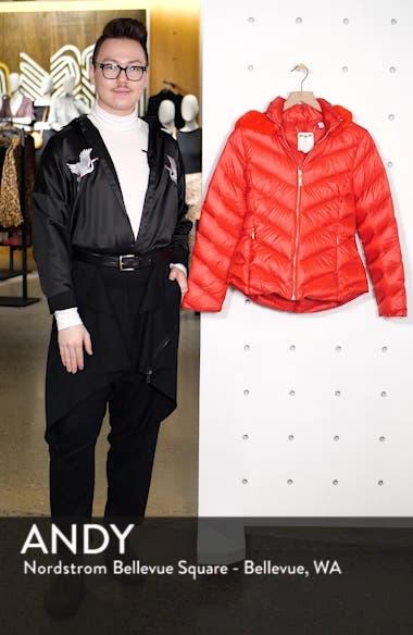c145451846f3 ... Chevron Faux Fur Trim Down Puffer Jacket, sales video thumbnail ...