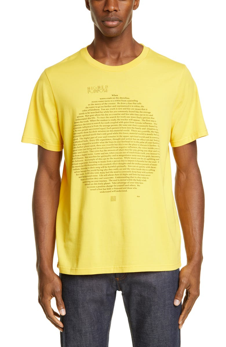 OVADIA & SONS Story T-Shirt, Main, color, YELLOW