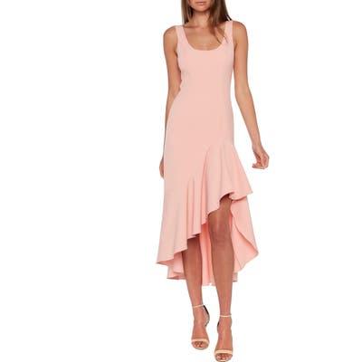 Bardot Esther Frill High/low Dress, Pink