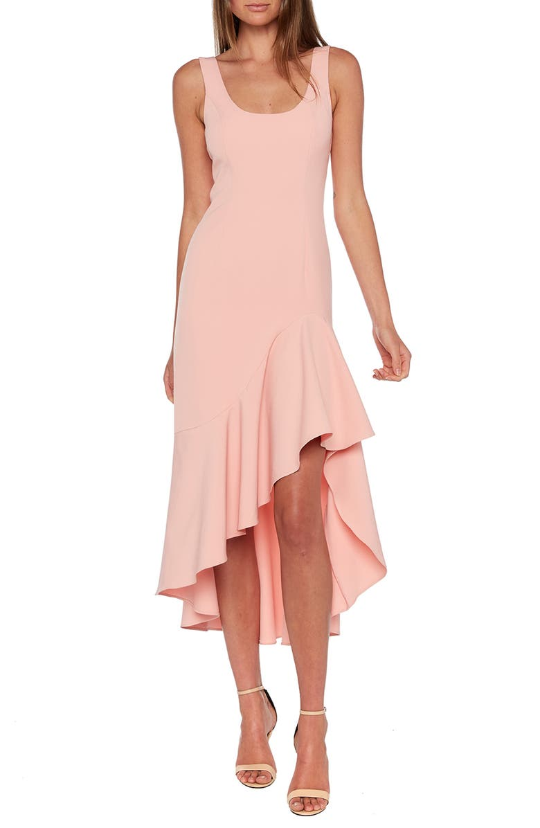 BARDOT Esther Frill High/Low Dress, Main, color, 681