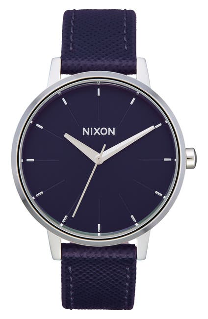 Image of Nixon Women's The Kensington Leather Strap Watch, 37mm