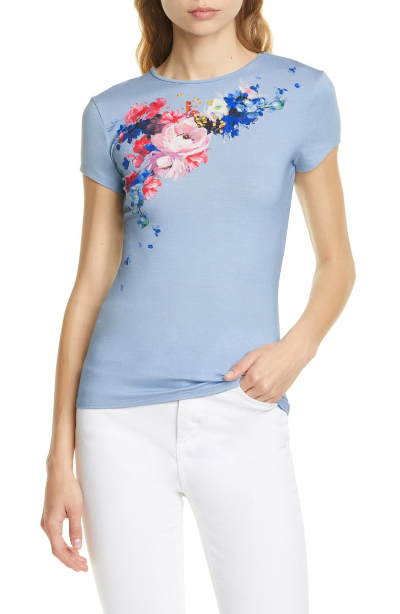TED BAKER LONDON Raspberry Ripple Fitted Tee, Main, color, 452