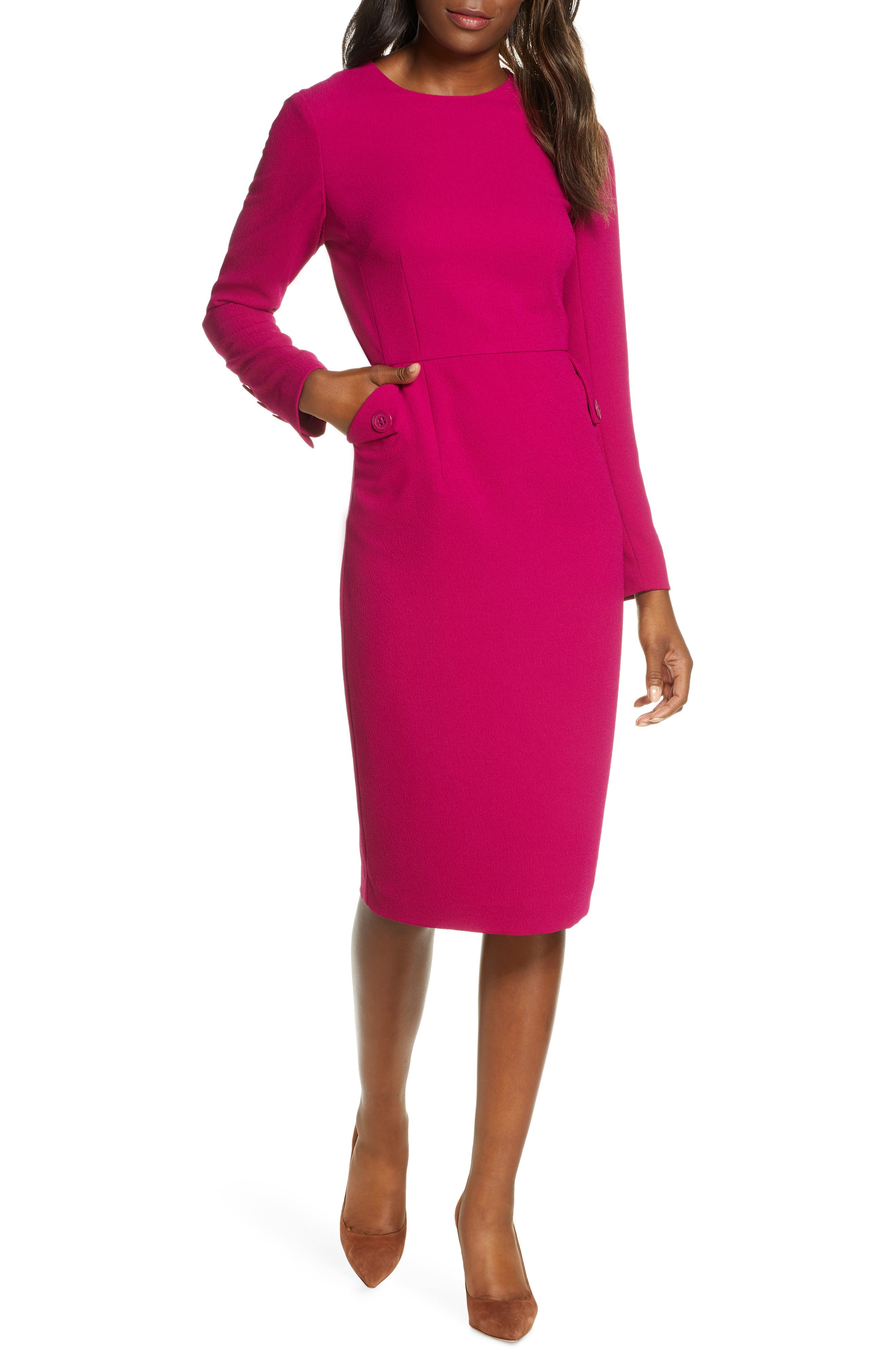 Harper Rose Long Sleeve Sheath Dress