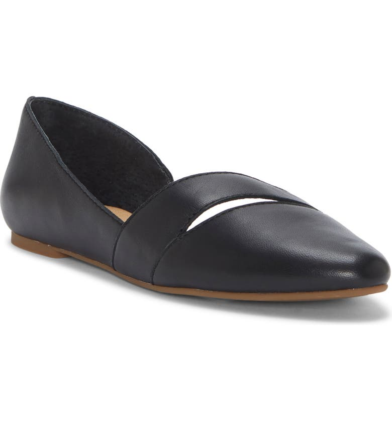 LUCKY BRAND Ashena Skimmer Flat, Main, color, BLACK LEATHER