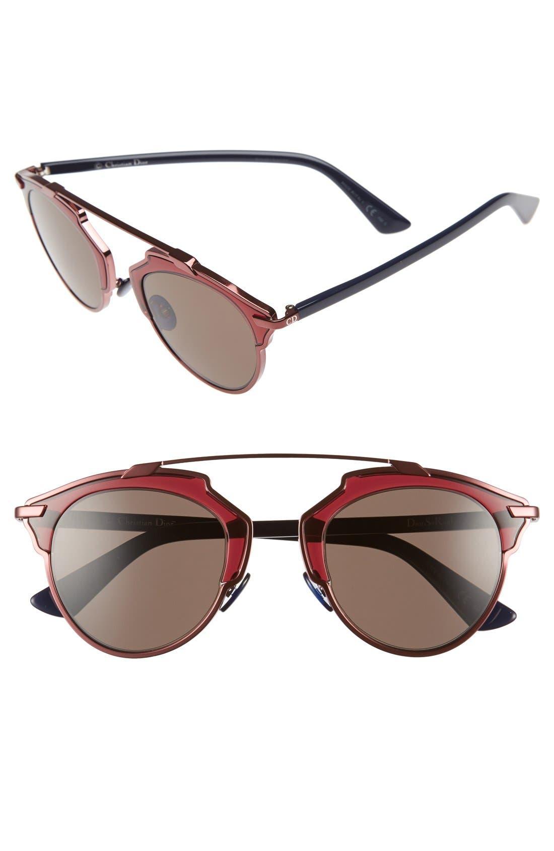 ,                             So Real 48mm Brow Bar Sunglasses,                             Main thumbnail 54, color,                             510