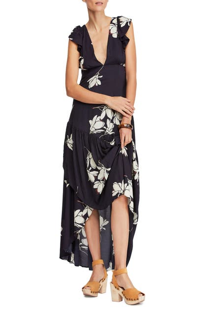 Free People Dresses SHE'S A WATERFALL HIGH/LOW MAXI DRESS