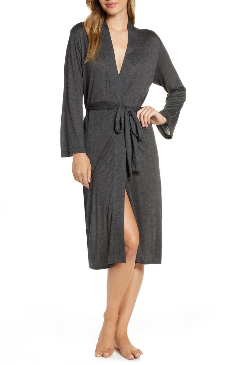 NATORI Lightweight Jersey Robe, Main, color, ATH ANTHRACITE
