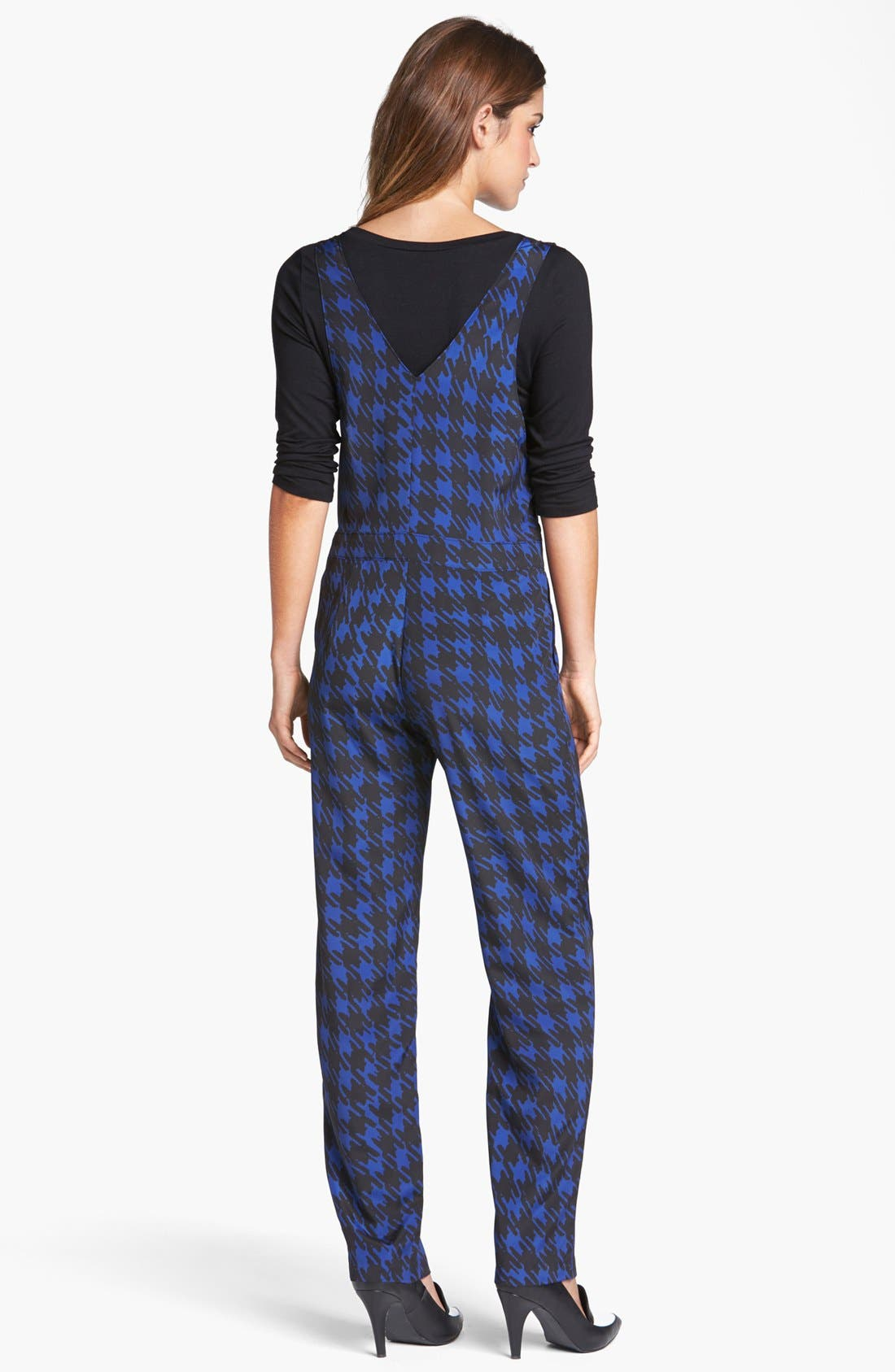 ,                             Houndstooth Print Overalls,                             Alternate thumbnail 2, color,                             410