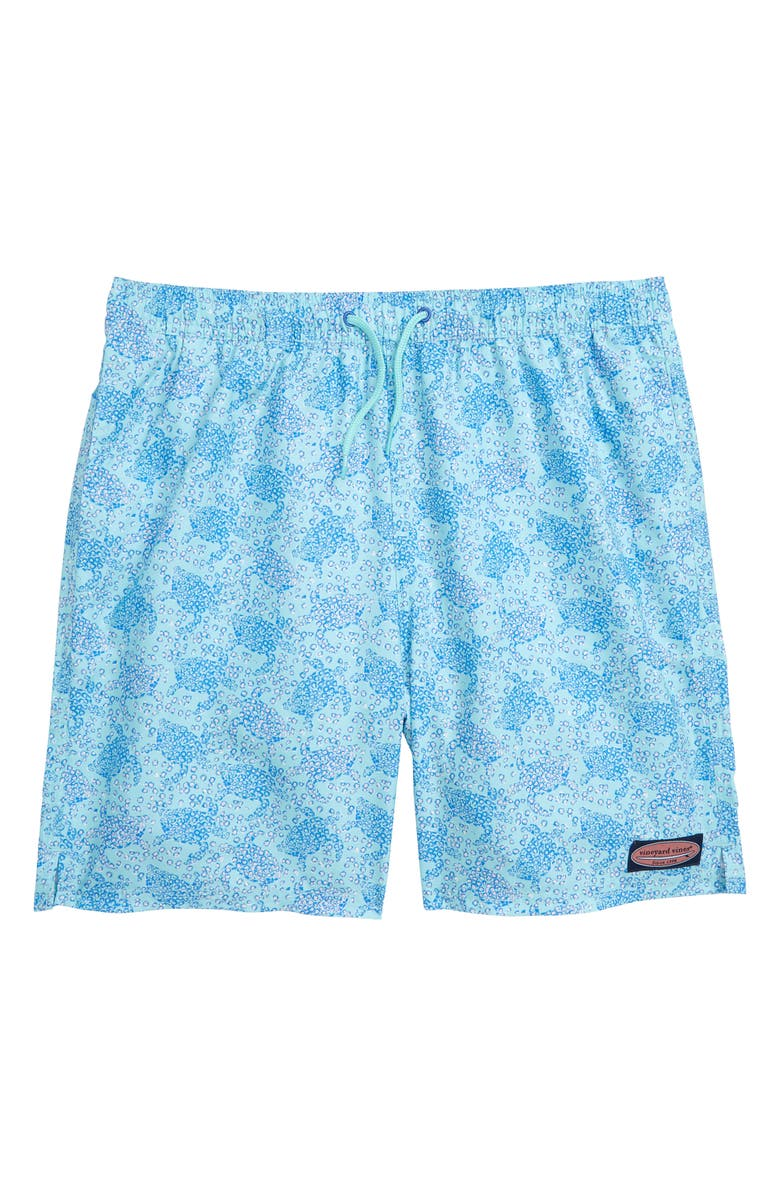 VINEYARD VINES Sea Turtles Chappy Swim Trunks, Main, color, CAICOS