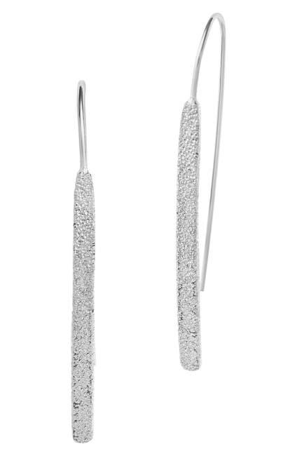 Image of Sterling Forever Sterling Silver Textured Threader Earrings