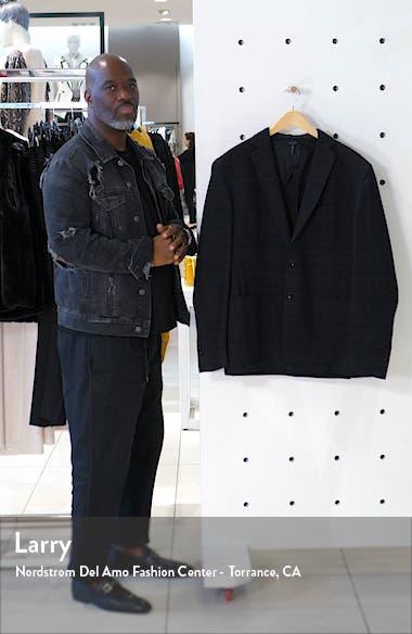 Slim Fit Plaid Knit Wool Blend Sport Coat, sales video thumbnail