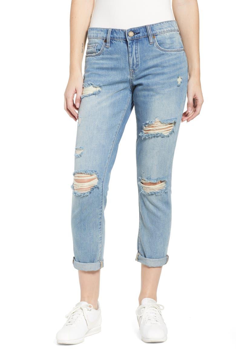 BLANKNYC Rocket Power Ripped Boyfriend Jeans, Main, color, 400
