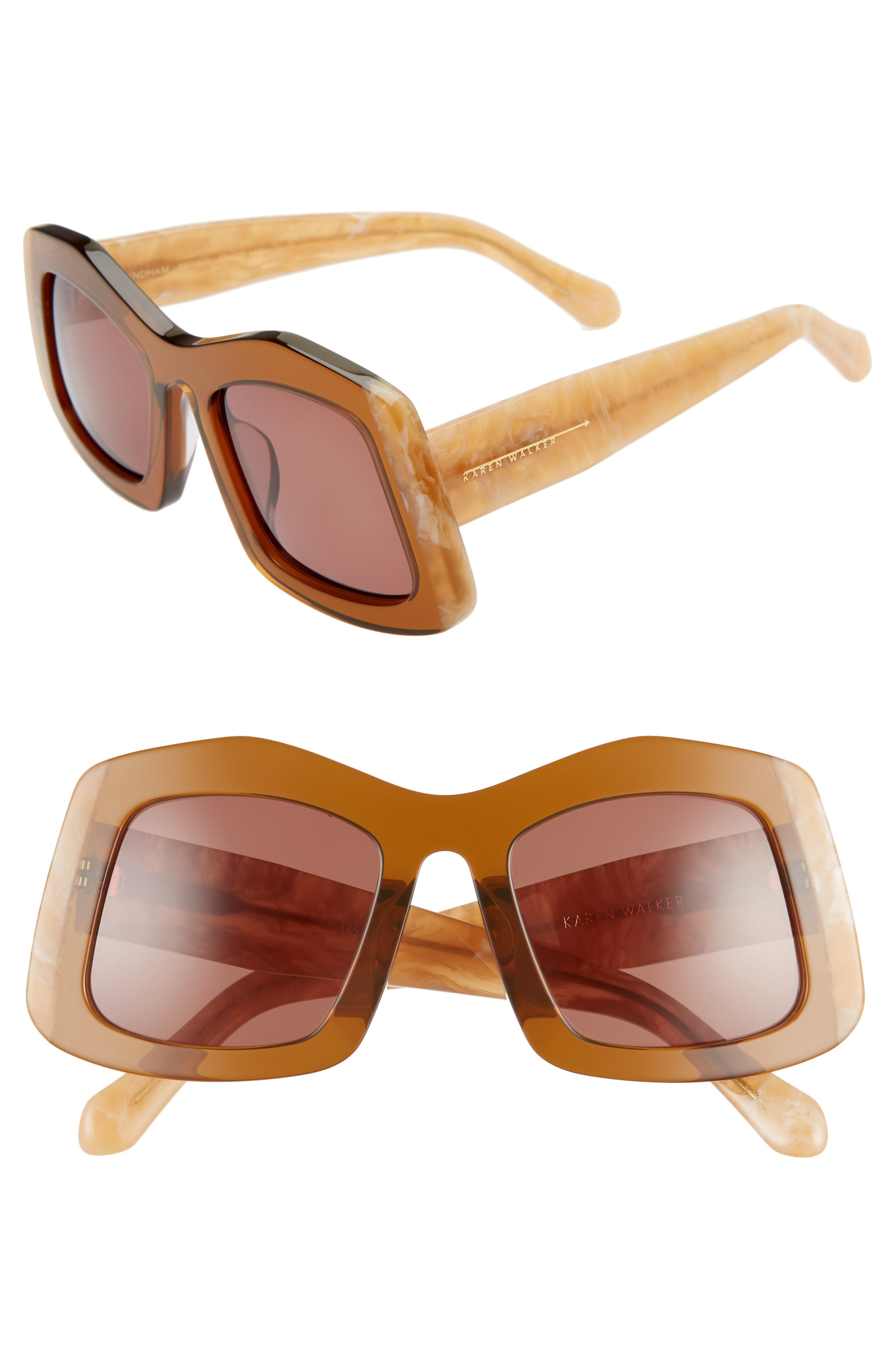Wyndham 53mm Irregular Square Sunglasses