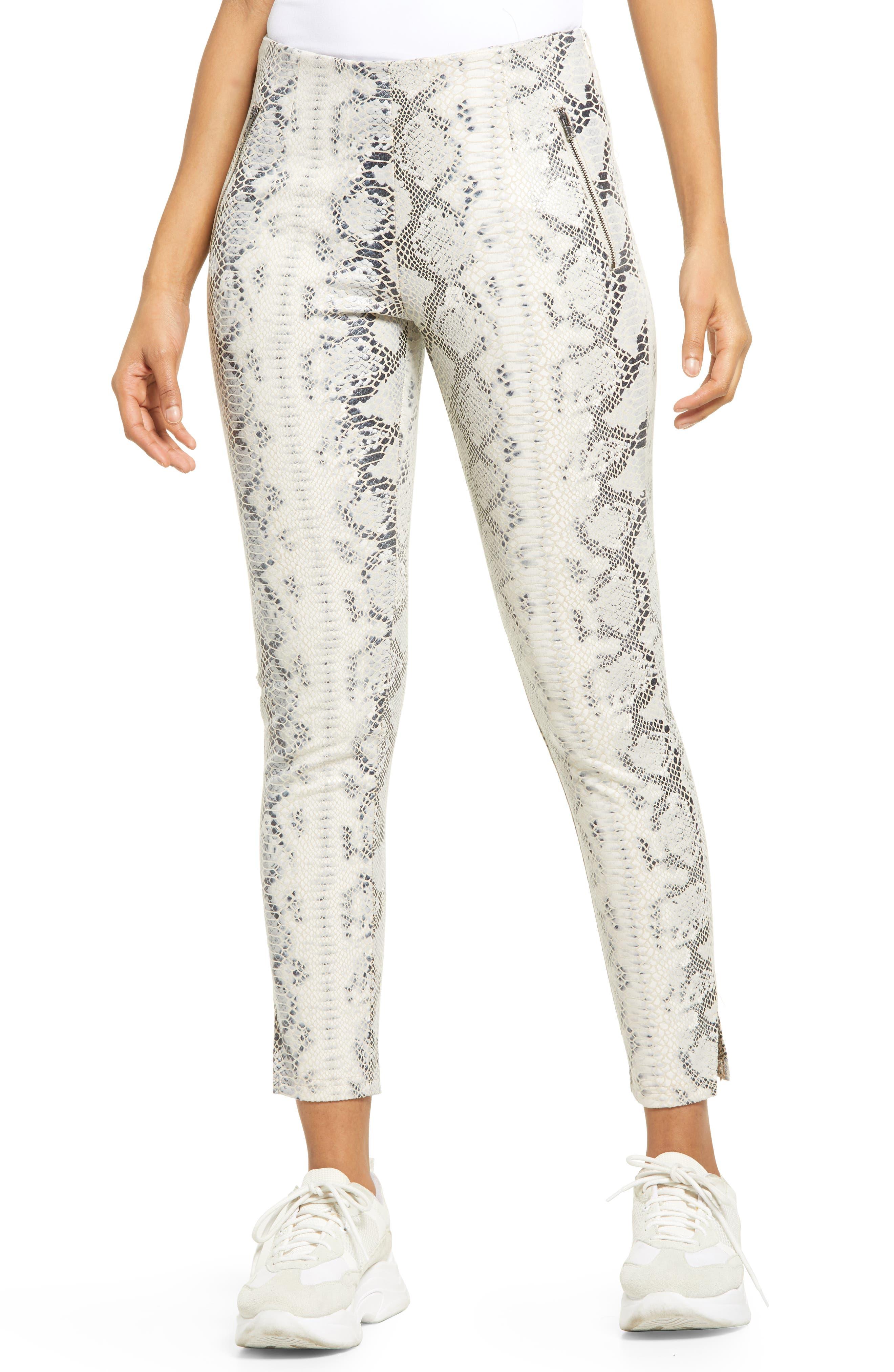 Women's Kendall + Kylie High Waist Snakeskin Print Pants