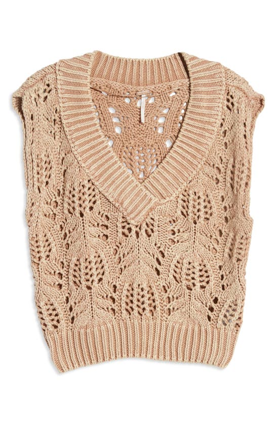 Free People Clothing ORCHID POINTELLE SWEATER VEST