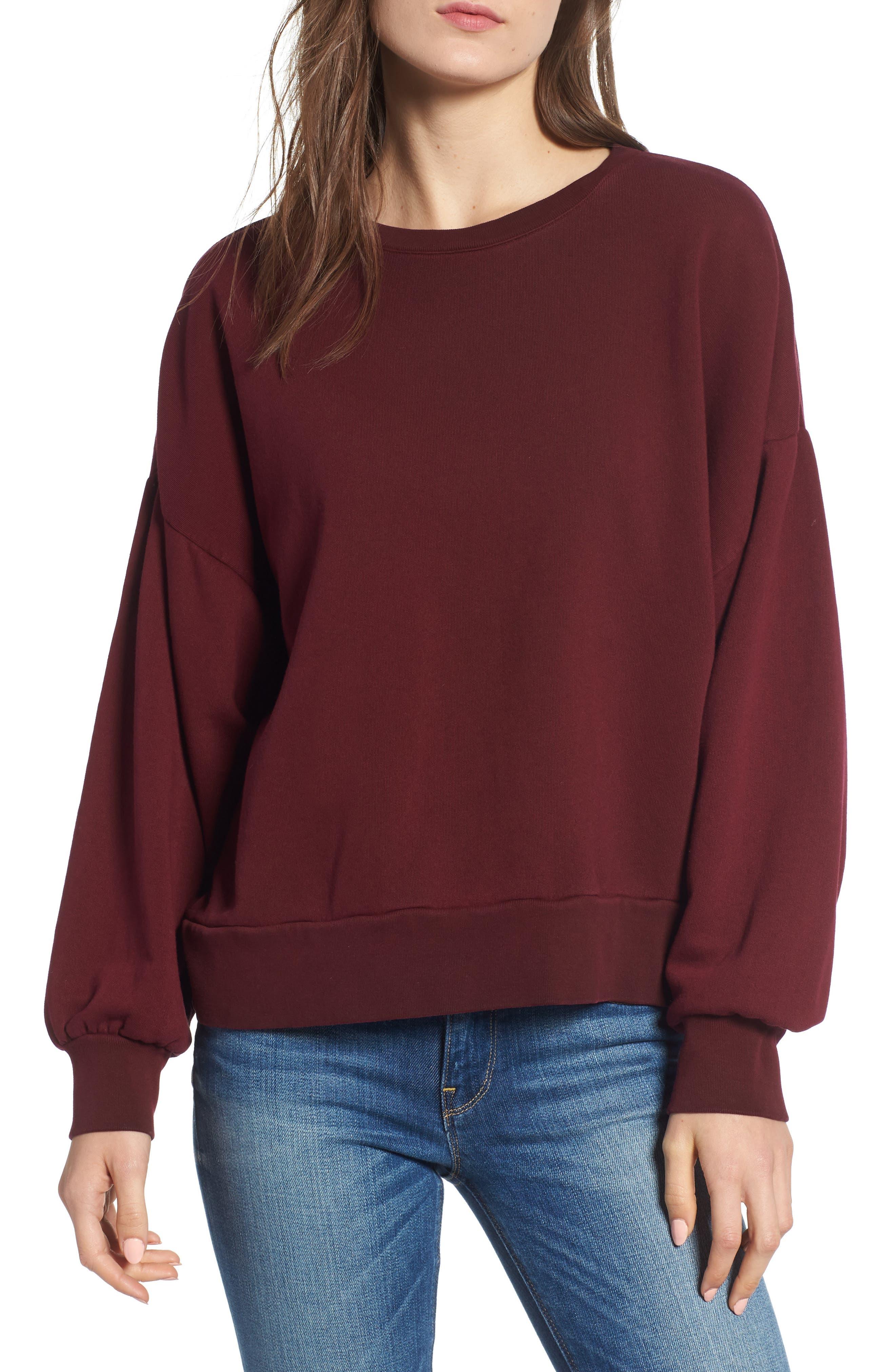 Hudson Jeans Cutout Back Sweatshirt, Pink