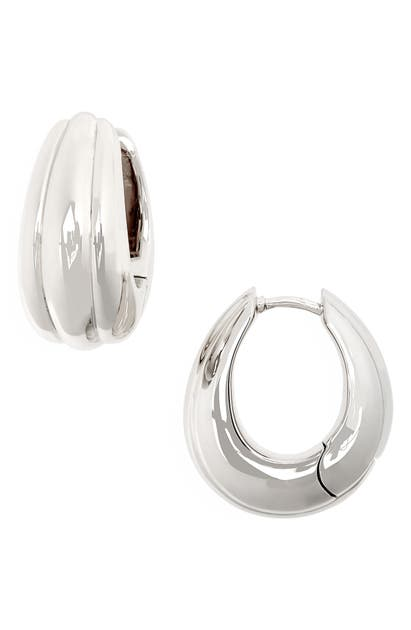 TOM WOOD ICE HOOPS MEDIUM LINE EARRINGS