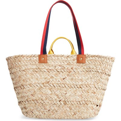 Clare V. Le Big Sac Woven Straw Tote - Ivory